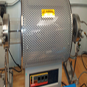 Standard tube furnace, performs up to three heating zones with a max heating capacity of 1200C.